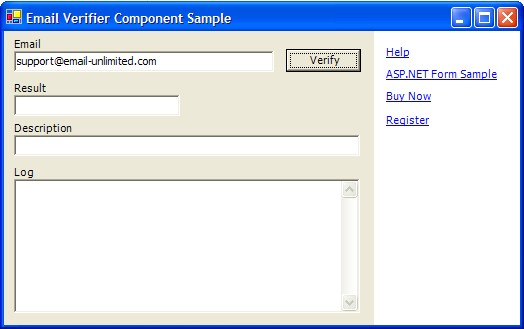 Email Validation Component - Windows Forms Demo